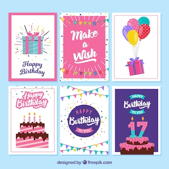 Verjaardagskaarten verpakken