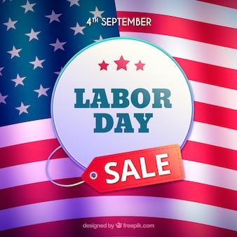 Verkoop achtergrond met Amerikaanse werkdag banner