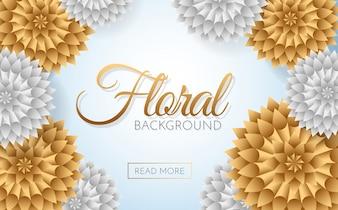 Verkoop Bloemen Vector achtergrond voor banner, poster, flyer