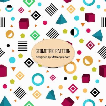 Verscheidenheid van geometrische vormen patroon
