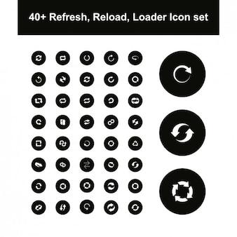 Verscheidenheid van loader pictogrammen
