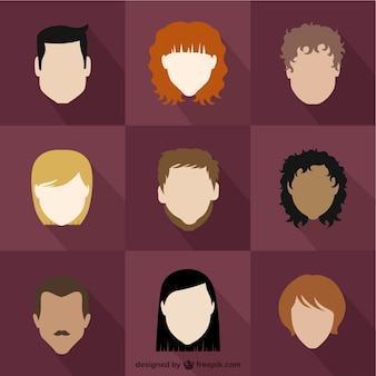 Verscheidenheid van mensen avatars