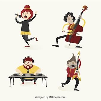 Verscheidenheid van muzikanten