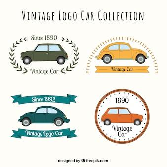 Verscheidenheid van retro auto logos