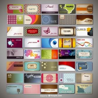 Verscheidenheid van visitekaartjes sjabloon vector materiaal
