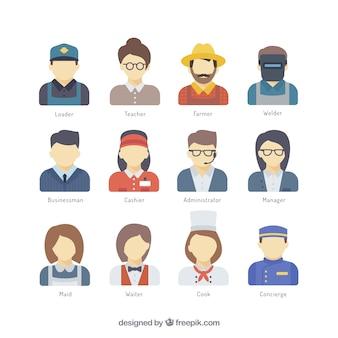 Verschillende beroep avatars