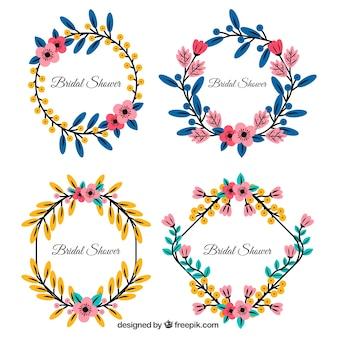 Verschillende bloemen bruids douche frames