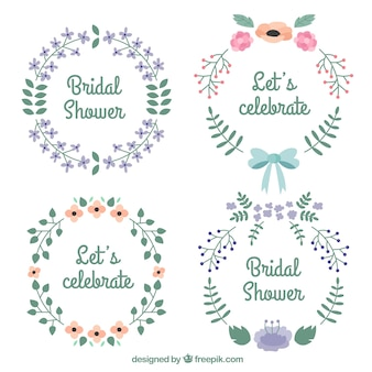 Verschillende bloemen huwelijk frames