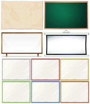 Verschillende ontwerpen van houten frames