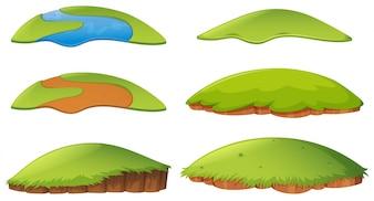 Verschillende vormen van eiland