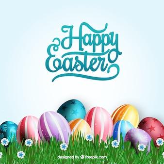 Versierde eieren kaart voor Pasen