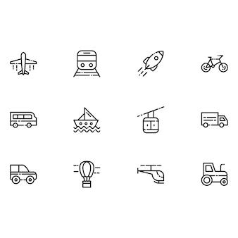 Vervoer iconen