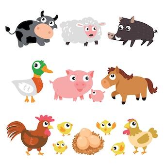 Verzameling boerderijdieren