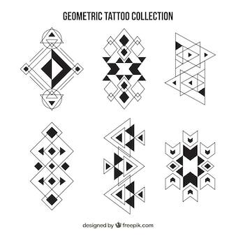 Verzameling etnische geometrische tatoeages