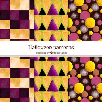 Verzameling van abstract aquarel patroon