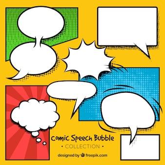 Verzameling van dialoogballon voor strips