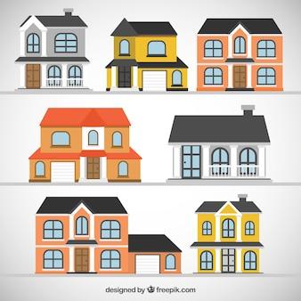 Mooie huizen vectoren foto 39 s en psd bestanden gratis Home decoration vector free