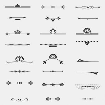 Verzameling van twaalf vintage frames voor het ontwerp