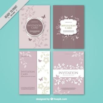 Verzameling van vier trouwkaarten