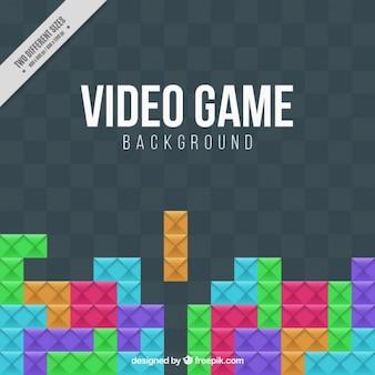 Video game achtergrond met kleurrijke stukken
