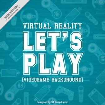 Video game achtergrond met verschillende game controllers