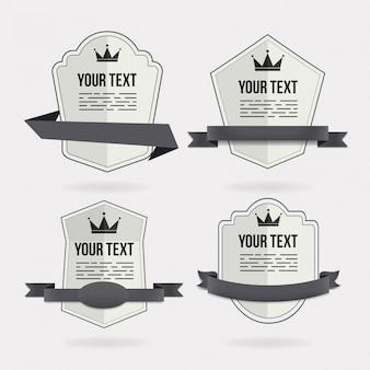 Vier badge ontwerpen