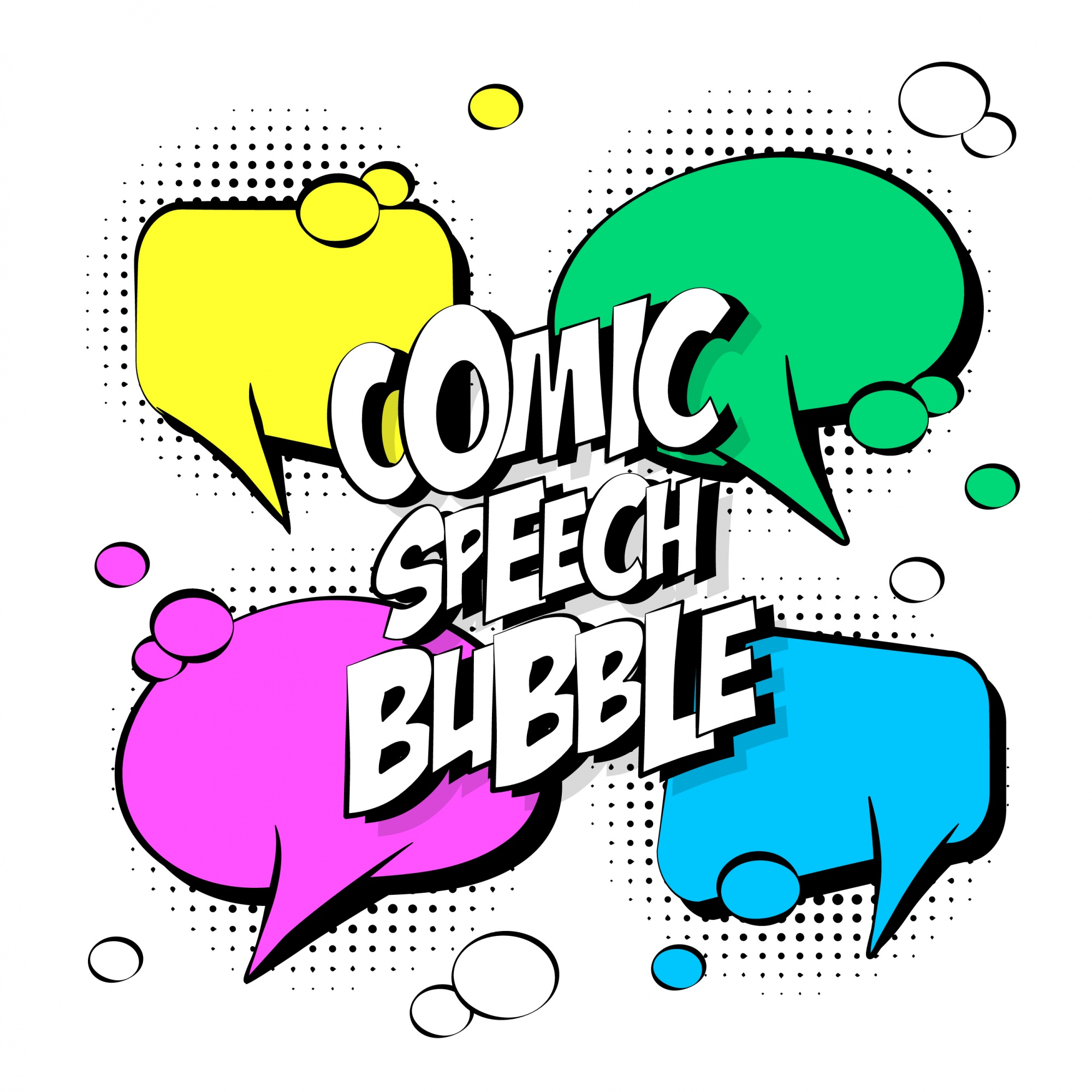 Vier comic speech bubble