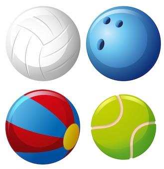 Vier soorten ballen