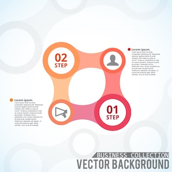 Vierkant infografisch sjabloon