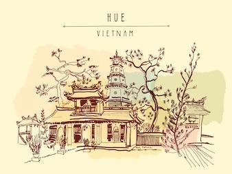 Vietnam achtergrond ontwerp