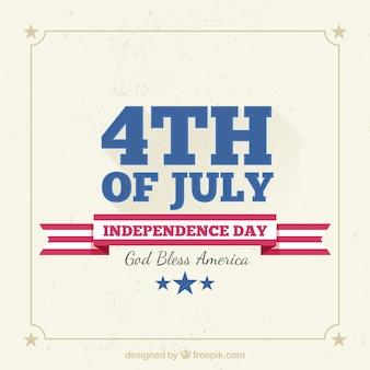 Vintage achtergrond voor de onafhankelijkheidsdag van de Verenigde Staten