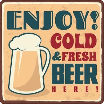 Vintage bier commercieel ontwerp