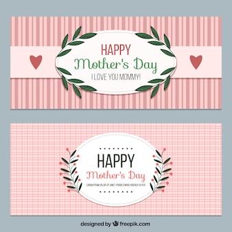 Vintage dag van de gelukkige moeder banners