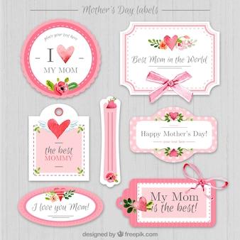 Vintage dag van de moeder stickers