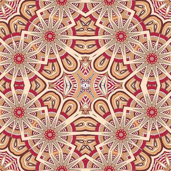 Vintage decoratieve elementen in etnische stijl Naadloos patroon
