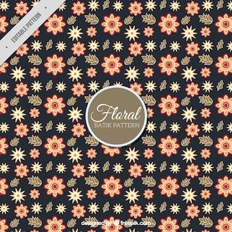 Vintage floral batikachtergrond