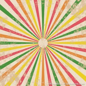 Vintage gekleurde zonnestraal textuur