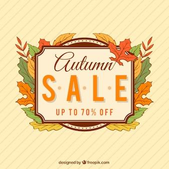 Vintage herfst verkoop achtergrond