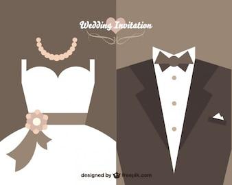 Vintage huwelijksuitnodiging vector ontwerp