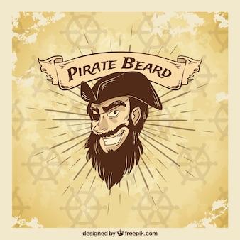 Vintage illustratie piraat achtergrond