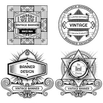 Vintage label ontwerp