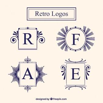 Vintage logo frames set