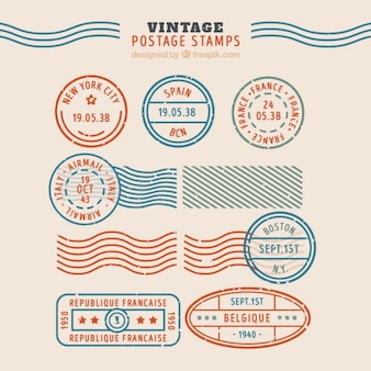 Vintage postzegelverzameling