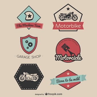 Vintage race-stickers