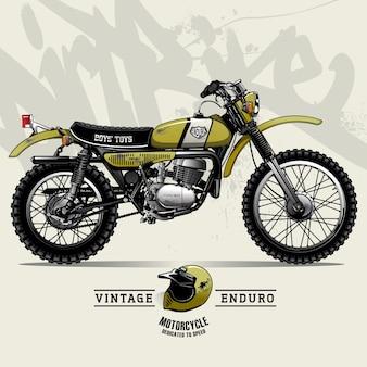 Vintage scrambler motorfiets poster