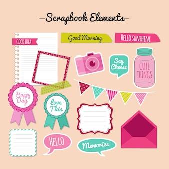 Vintage scrapbook elementen