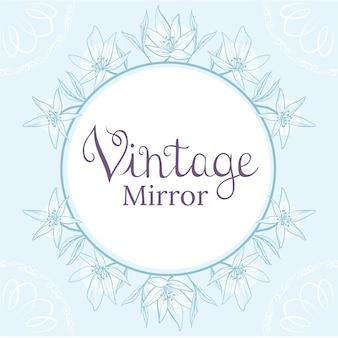Vintage spiegel achtergrond