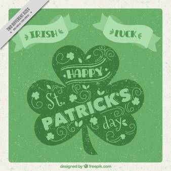 Vintage St Patrick's day achtergrond in groene tinten