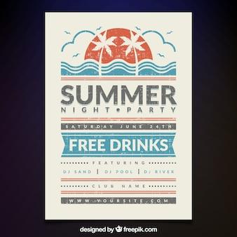Vintage uitgave van de zomeravondpartij