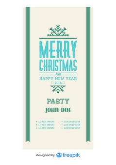 Vintage vrolijke kerst banner